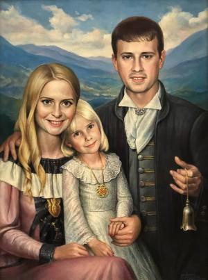 'Ілона, Даринка і Андрій', 2015, п.о., 80х60