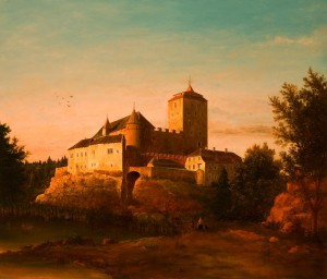 Kost Castle, 2000, oil on canvas, 75x87