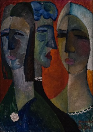'Generation', 1967, oil on cardboard