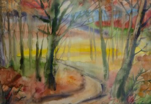 Дорога в гори, 2012, пап.акв., 43х60