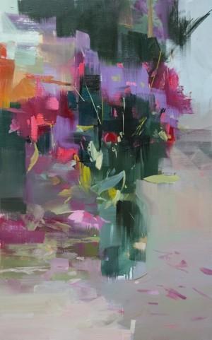 Kaleidoscope 2016 oil on canvas 65x40.