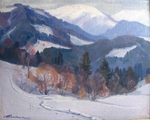 Winter In The Mountains, 1978, oil on canvas, 70х100
