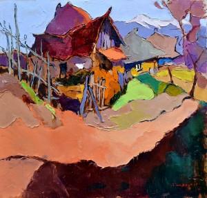 Старі будинки, 2015, п.о., 60х65
