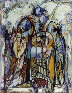 Троїця, 2000, пап., авт. техн., 28х18