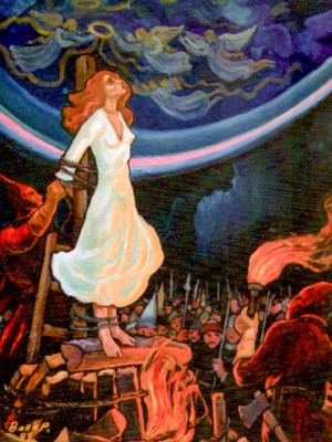 Joan of Arc, 1998, oil on canvas, 99,5х79,5