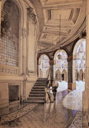 Італійські аркади, 2013, пап. ручка, 70х50
