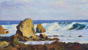 Rocky Shore, oil on canvas, 61x100
