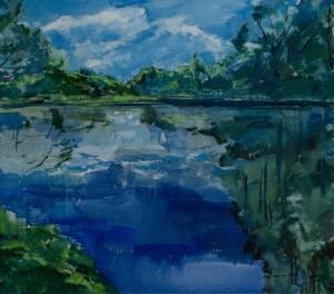 'Літній мотив', 2017, 80х70