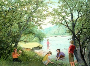 'Young Naturalists', 2001, oil on canvas, 77,6х56,5