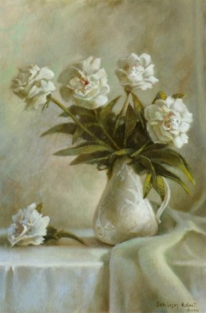Still Life With Peonies, 2014, oil on canvas, 60x40