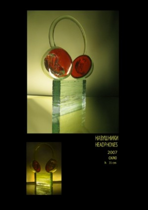Headphones, 2007, glass, h=35
