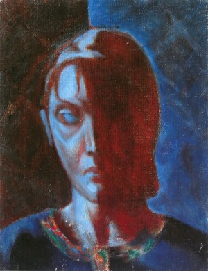 A Womans Portrait, 1995, oil on cardboard, 35x25