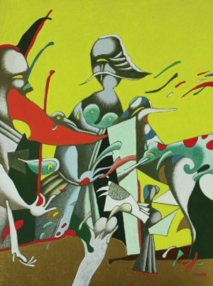 From the cycle Migration, 1987, tempera on canvas, 112x85