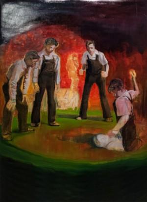 'Діти б'ють товариша', 2017, 193х143