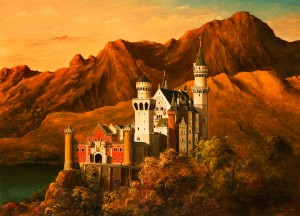 The Neuschwanstein Castle, 2007, oil on canvas, 85x115