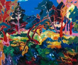 Пейзаж з деревами, 2008, п.о., 100х120