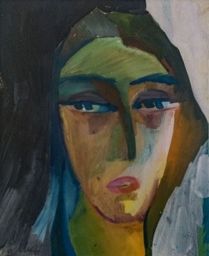 'Look', 1969, watercolour on paper, tempera