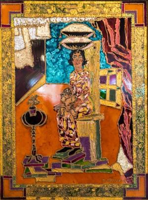 Декорація родинного щастя, 2009, скло, фарби по склу