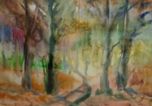 Дорога в ліс, 2016, пап.акв., 43х60