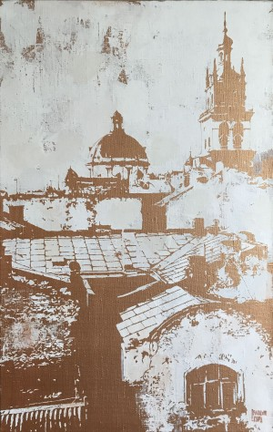 Lviv Sketches, 2017, 100х70