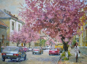 Cherry Blossom in Mukachevo, the second half of the 2000s