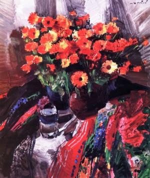 Улюблені квіти, 1988, кар.о., 60х50