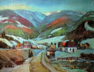 Край села Волосянка, 1998, 65х80