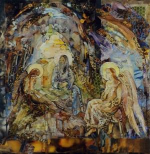 Троїця, 2001, пап., авт. техн., 28х15