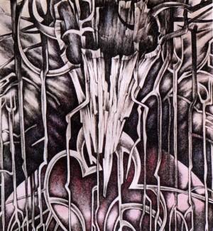 Із серії «Ліс», 1990, пап.акв.гуаш, 18х16