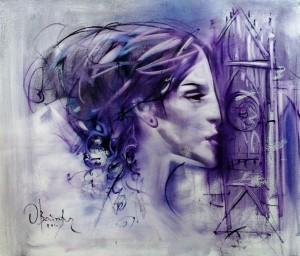 O. Voitovych 'Gotische Frau', 2014
