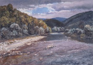 The Liutianka River, 1962, oil on canvas, 70x94