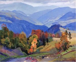 Синевирський перевал, 1975, п.о. 75х90