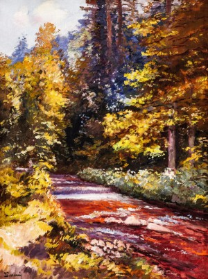 The River In The Forest, 1967, oil on canvas, 84x64