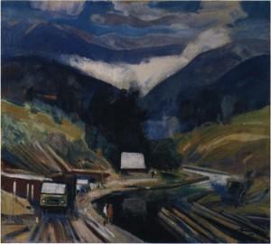 Сині гори, 1979, п.о. 100х120