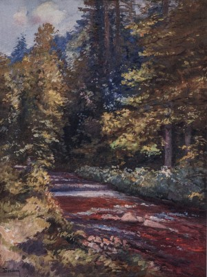 The River In The Forest, 1968, oil on canvas, 84x64