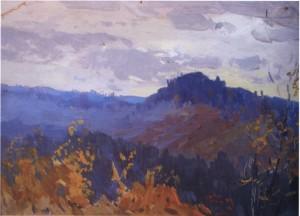 Сині гори, кін. 1950-х, к.о. 25х35
