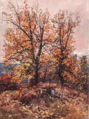 A Pink Autumn, 1960s, oil on canvas, 89х66,5