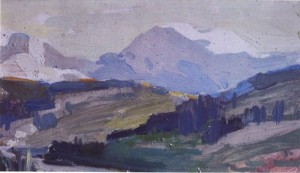 Снігові вершини, сер. 1950-х, к.о. 20х35