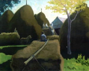 Hay Removing, 1979, oil on canvas, 166х100