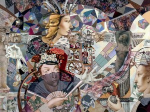 Триптих  Нескінченна гра, (ц.ч), 2001, 81х108