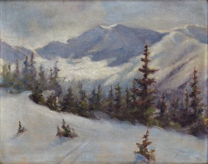 'The Winter Tatras Mountains', 1935, oil on canvas, 40x50.jpg