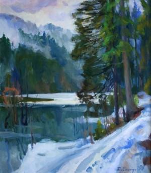 Зимою. Озеро Синевир