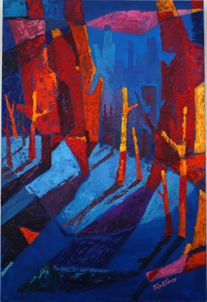 Shadows oil on canvas 100х75