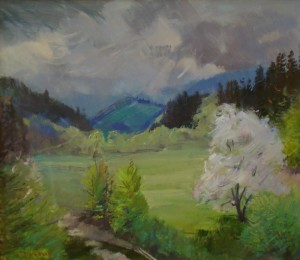 Spring In The Beskyd Mountain, 2016, oil on canvas, 70х80