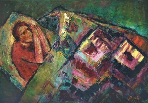 Bedspread, 2007, oil on canvas, 60x80