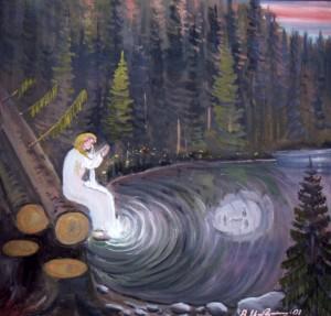 Легенда Cиневирського озера, 2001, п.о., 70х80