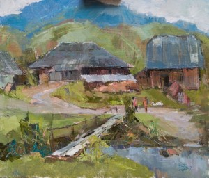 V. Dub. Stuzhytsia Village', 2017, oil on canvas, 60x70