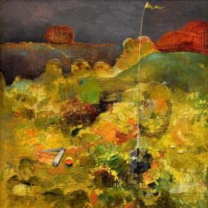 Still Life-Landscape, 1981, oil, wood, mixed technique, 59x58
