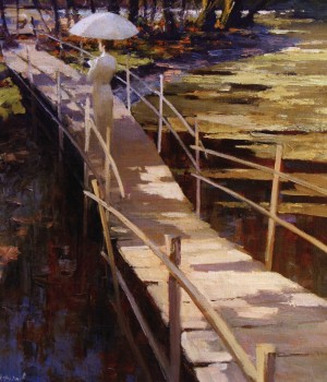 Small Bridge, 2011, oil on canvas, 110x95