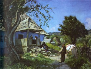 Хата в Новоселиці, 1937, п.о., 54х74